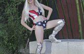 Lady Gaga Amerikaanse vlag kostuum