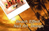 Strand Effect Nail Art Design