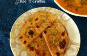 Aloo Paratha (hele tarwe plat brood met aardappel vulling)