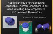 Snelle techniek voor het fabriceren van Disposable thermische kamers om te worden gebruikt bij het testen van lage temperatuur USB aangedreven Thermofoils en verwarmingselementen