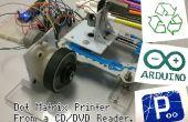 Dot matrixprinter vanaf een CD/DVD-lezer met Arduino