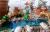 Achtertuin miniatuur tuin