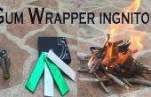 Batterij + gom Wrapper = pyromanie!