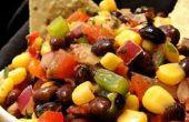 Zwarte bonen en maïs Salsa