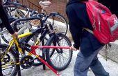 Hoe maak je je fiets een lelijke ontmoediging zoekt dieven