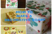 Hoe maak je decoratieve (decoupage) zeep