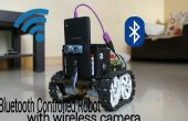 Bluetooth controlled robot met spy camera's draadloos