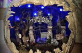 Spookachtige kerkhof Diorama pompoen