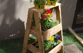 Reclaimed Hout kruid of plant stand