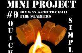 Mini Project #9: DIY Wax & katoenen bal vuur voorgerechten