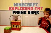 Minecraft exploderende TNT Prank Bank (hout Printer Image Transfer)