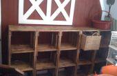 Modulaire hout krat speelkamer opslag