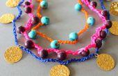 DIY Crocheted ketting een armbanden met perls