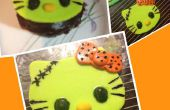 Hallo Kitty Frankenstein (cupcake topper)!