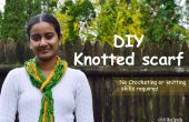 DIY Knotted sjaal - geen haken of breien van vaardigheden die zijn vereist