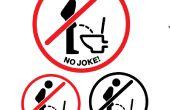 Maak uw eigen effectieve vergadering-Down-plassen-teken voor uw toilet/WC (3 downloadbestanden)