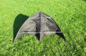 Bouwen van een delta-vlieger van een paraplu