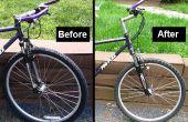 Een berg fiets voorvork vervangen voor de oudere MTBs