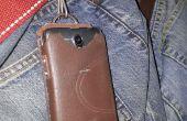 Ultra spotgoedkoop telefoon geval van oude leer werk laarzen.