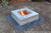 Zelfgemaakte moderne DIY Concrete Fire Pit
