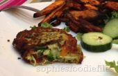 Vegetarische courgette-pea ricotta pasteitjes