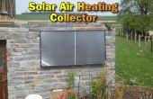 Zonne-lucht verwarming Collector voor onze steen Build Garden House