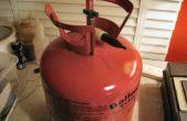 Hergebruik van een wegwerp Helium Tank