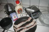 Moleculaire gastronomie: Bacon geïnfundeerd Agar Spaghetti