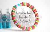 Hexafish rainbow loom armband