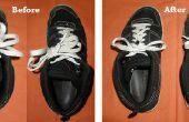 Hoe te verkorten uw schoenveters wanneer zij 've geworden ook lange aan één Tie