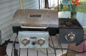 Het wijzigen van een camping grill met kant brander