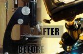 Een oude Microscoop herleven: goede reiniging, nieuwe lichtbron (met multiplex) en camera adapter