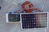 Kleine 12V batterij zonne-energie opladen Rig voor een Caravan of Camper