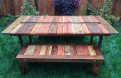 Teruggewonnen hout Flat-Pack picknick tafel met Planter/ijs via
