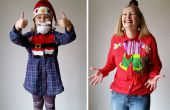 Mijn DIY Upcycled Refashioned kerst Blouses