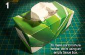 DIY: Maak je eigen brochure houder van een weefsel vak