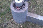 Rocket stove productie afval 40 minuten.