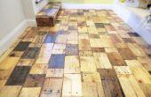 Het creëren van een DIY Pallet-parket met gratis hout