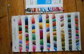 Maken van een kaart van kleur (meestal borduurwerk floss)