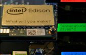 Intel Edison temperatuur logger met de RBG-LCD