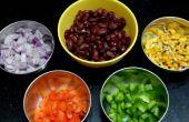 Eenvoudige zwarte bonen salade