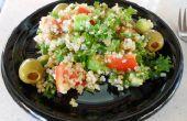 """Eenvoudige koele zomer Quinoa en boerenkool """"Salade van Tabouli""""-veganistisch, glutenvrij"""