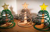 Gemakkelijk drie platte pack kerstboom stuk
