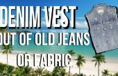 How to Make Denim Vest van oude Jeans STEP BY STEP video