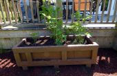 Grote Outdoor Planter uit een gerecycleerde verzending kist