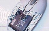 MODIFIED muis loopt op LITHIUM-ION mobiele telefoon-batterij