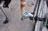 Fiets aanhangwagen kink in de kabel en hengel houder combo