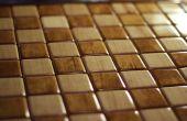 Massief hout-Intarsia schaakbord