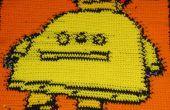 Robo deken: Haak een deken met behulp van een cross stitch-patroon.