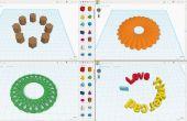 Tinkercad: Gemakkelijk aan cirkel Array
